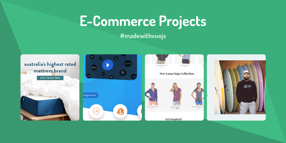 E-Commerce Projects - Made with Vue js