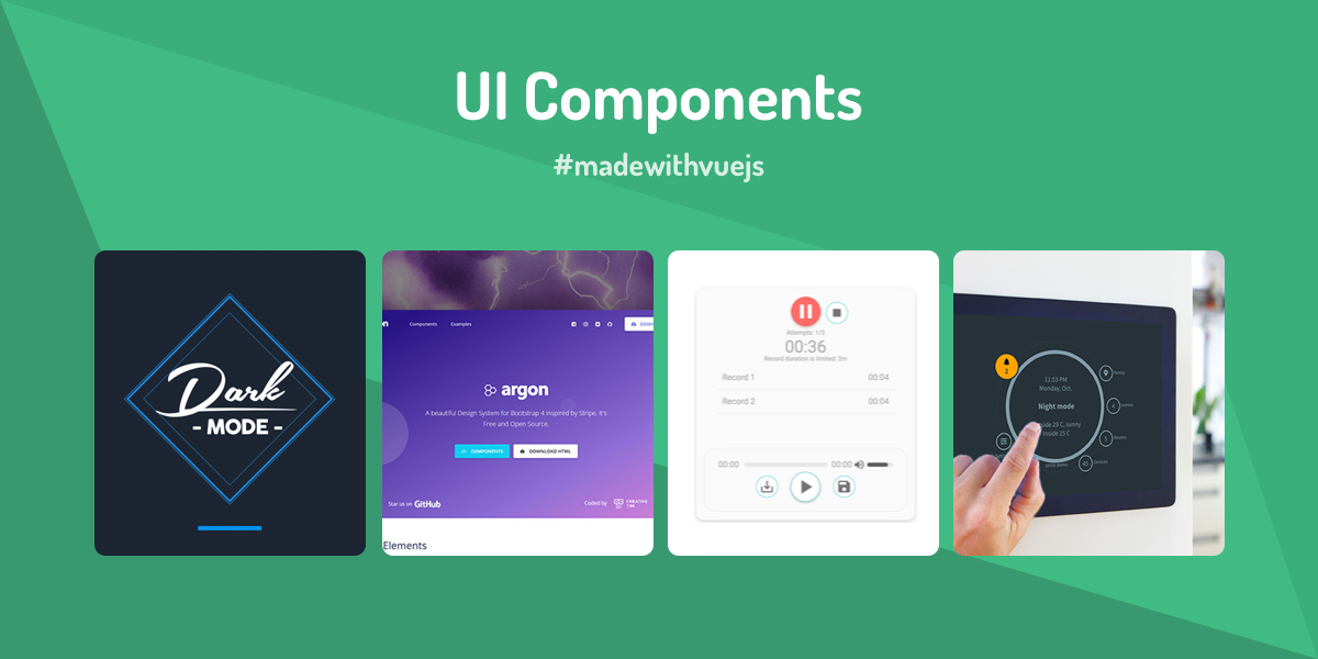 UI Components - Made with Vue js