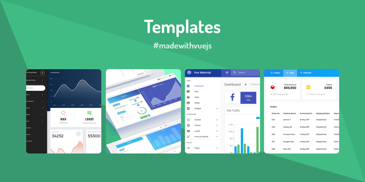 Templates - Made with Vue js