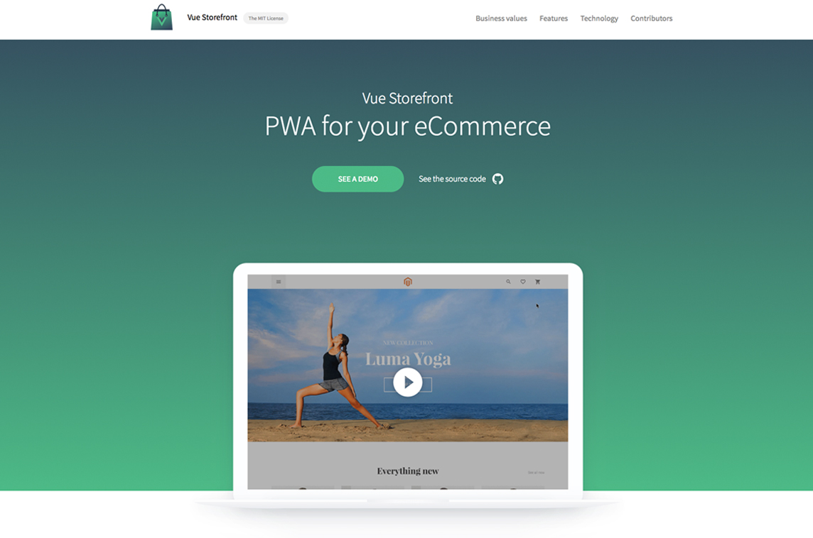 vue storefront made with vue js